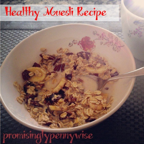 Healthy Muesli Recipe: This healthy whole food recipe makes a delicious and healthy breakfast!