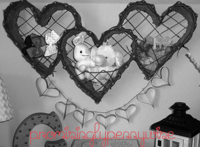 DIY Heart Garland with Video Instructions: This craft is simple and inexpensive! Some paper, string, scissors, a ruler and a stapler is all you need.