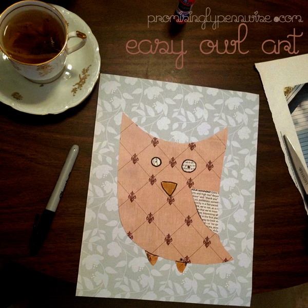 Easy Owl Art With Free Printable Templates!