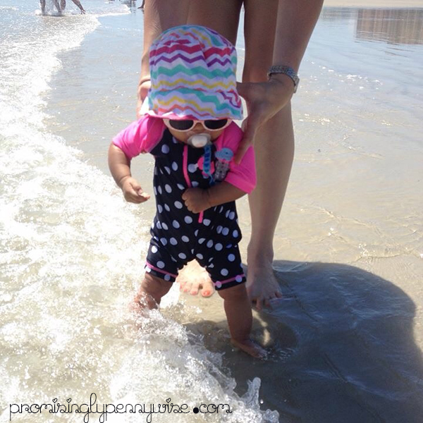 First dip in the ocean!