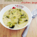 Low Carb Cheesy Broccoli Chicken Soup