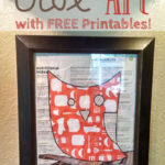 Easy Owl Art With Free Printable