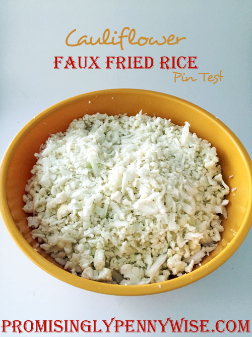 Cauliflower Faux Fried Rice Pin Test Review: Great for low carb diets, this recipe replaces rice with grated cauliflower!