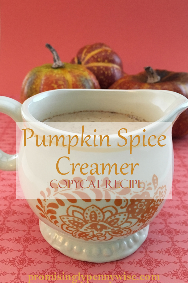 Pumpkin Spice Creamer Copycat Recipe: Trade the artificial ingredients of store bought creamer for real, wholesome ingredients with this copycat recipe!
