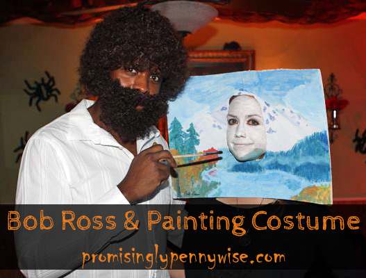 Thrifty Last Minute Costume Ideas: Bob Ross and Painting Costume