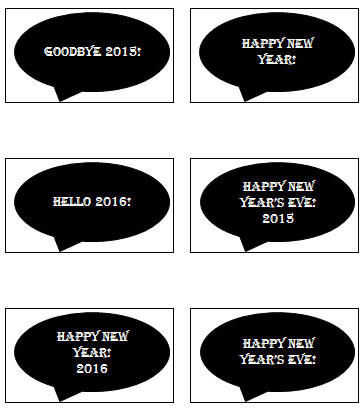 Free Printable New Years Signs!
