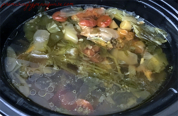 So easy and saves so much money. Use a leftover rotiseree chicken to make chicken broth in the crock-pot!