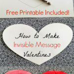 How To Make Invisible Message Valentines