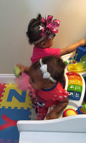 G had so much fun playing with other babies her age!