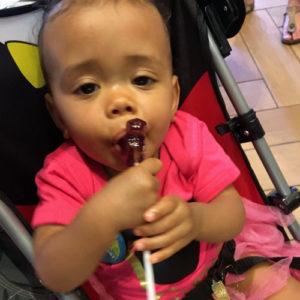 It didn't take her long to realize that sugar tastes goooood!