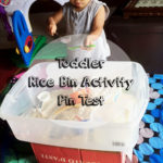 Toddler Rice Bin Pin Test