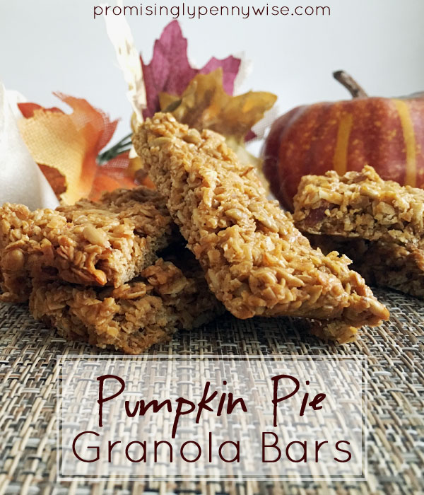 Pumpkin Pie Granola Bars: The perfect gluten free fall snack!