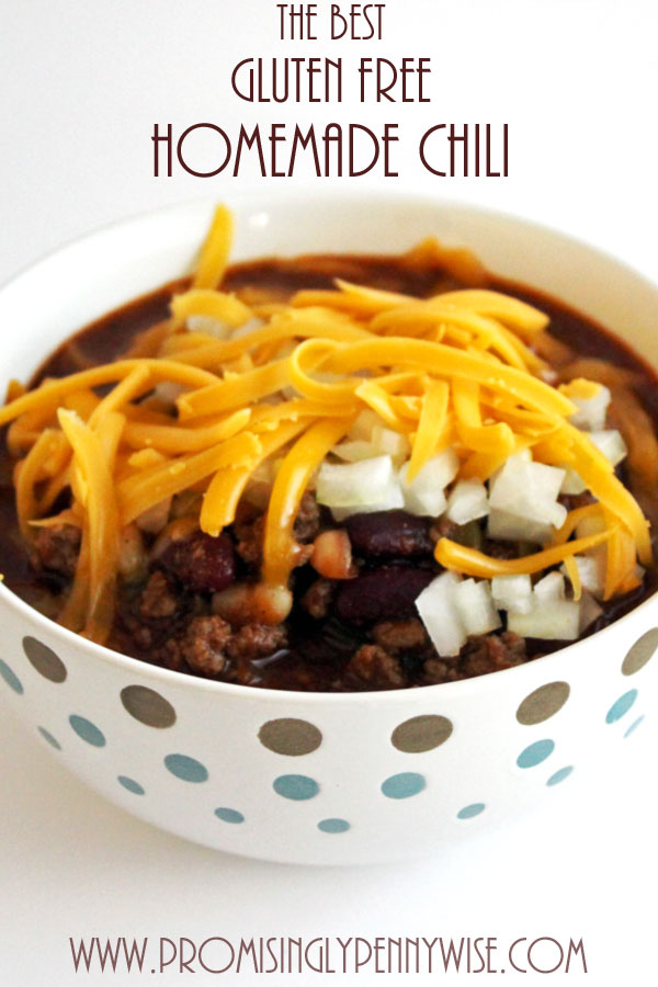 The Best Gluten Free Homemade Chili Recipe: An easy, flavorful, one pot meal!