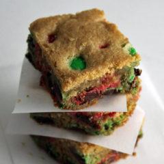 Gluten-Free M&M Cookie Bars