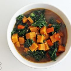 Stove Top Sweet Potato and Kale Stew