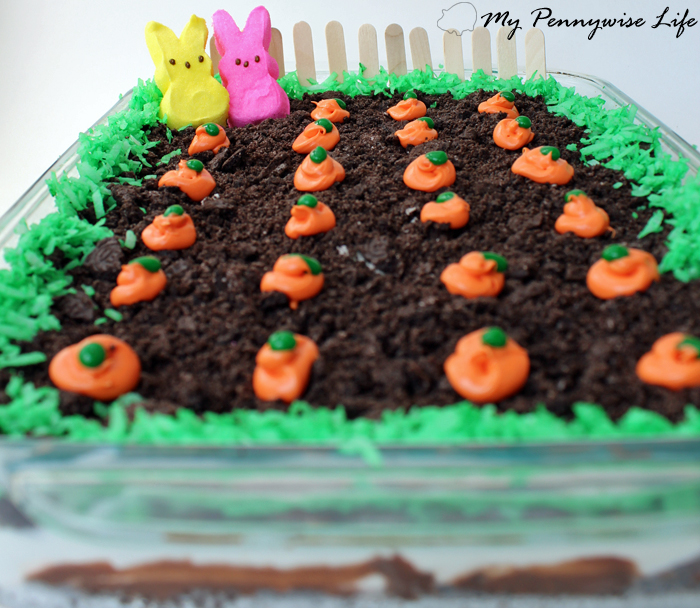 Easy Easter Dirt Cake: An easy, festive, no-bake Easter dessert. (Gluten-free option included!)