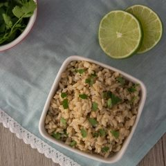 Pressure Cooker Cilantro Lime Brown Rice (Chipotle Copycat)