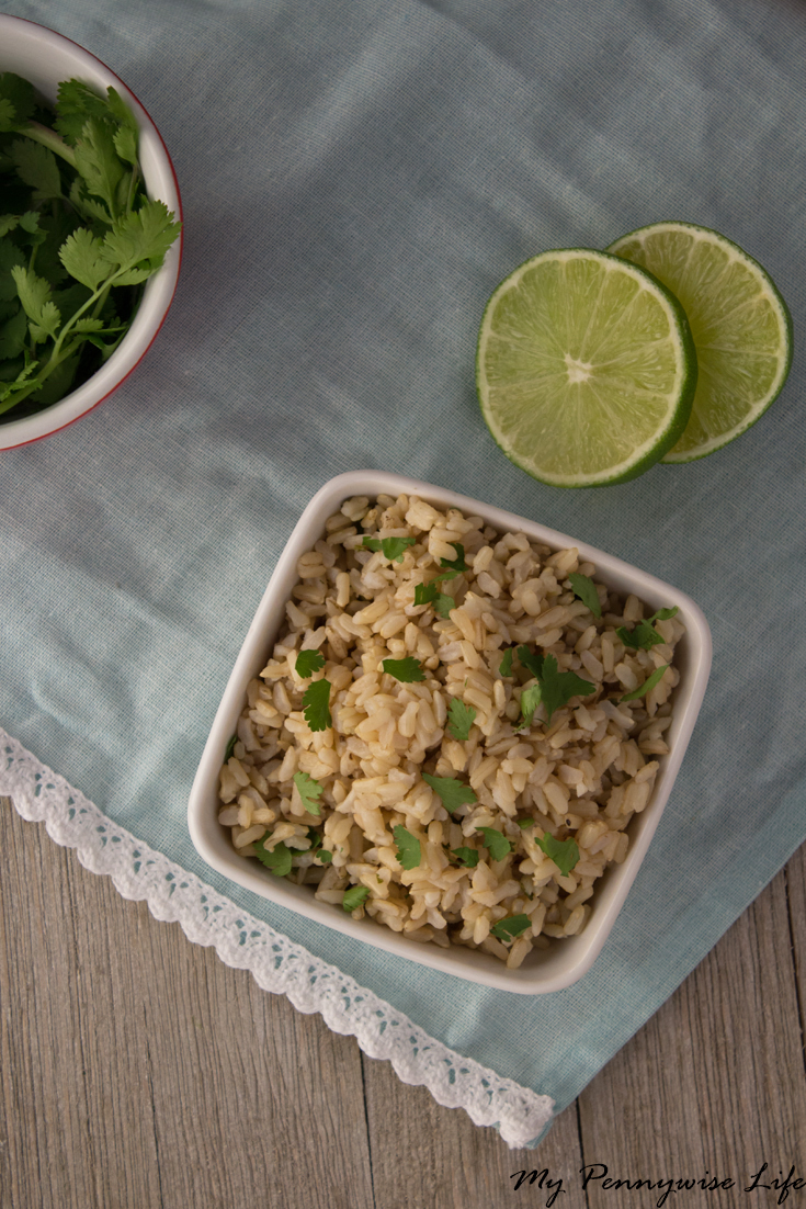 Pressure Cooker Cilantro Lime Brown Rice: Just 4 easy steps! Gluten-free | Dairy-free | Low Oil | Copycat Recipe | Chipotle Copycat | Instant Pot