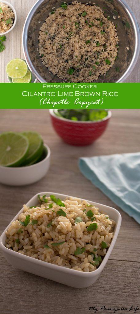 Pressure Cooker Cilantro Brown Rice: Just 4 easy steps! Gluten-free | Dairy-free | Low Oil | Copycat Recipe | Chipotle Copycat | Instant Pot