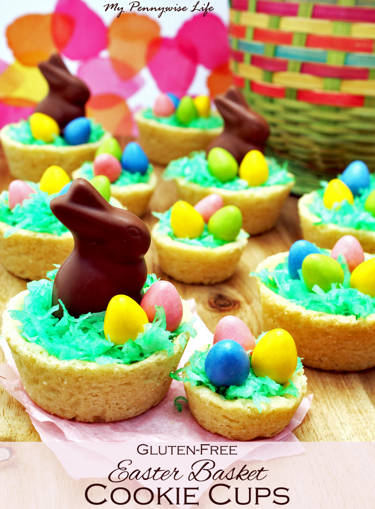 Easter Basket Cookie Cups (Gluten-Free!) - My Pennywise Life