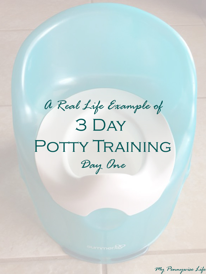 A real-life example of what day one of 3 day potty training looks like.