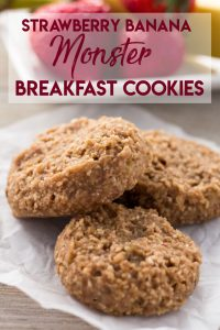 Strawberry Banana Monster Breakfast Cookies: Easy | Healthy | Gluten-Free | Dairy-Free | Grab & Go Breakfast